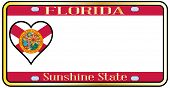 Florida State License Plate