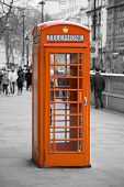 picture of phone-booth  - Famous telephone booth in London - JPG