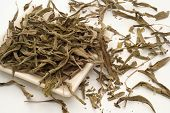 foto of salvia  - Medicinal salvia tea leaves loose in the bowl - JPG