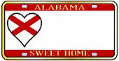Alabama State License Plate