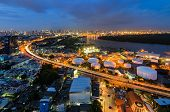 Bangkok Cityscape With Curve Line