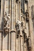 Close-up view of the Milan cathedral