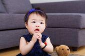 Baby girl pray