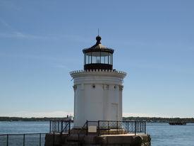foto of lightning bugs  - Portland Breakwater Lighthouse  - JPG