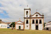 stock photo of cassia  - Church Igreja de Santa Rita de Cassia in Paraty state Rio de Janeiro Brazil - JPG