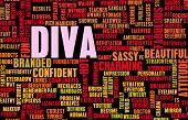 stock photo of diva  - Diva Crazy Attitude as a Art Concept - JPG