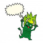 image of demons  - cartoon demon with speech bubble - JPG