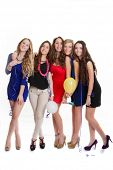 picture of hen party  - hen party young girls celebrating new years eve - JPG