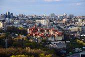 foto of kiev  - Kiev cityscape in spring - JPG