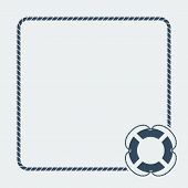 image of nautical equipment  - nautical card template - JPG
