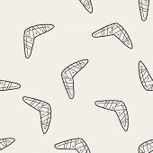 foto of boomerang  - Boomerang Doodle - JPG