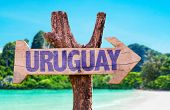 picture of negro  - Uruguay wooden sign with beach background - JPG