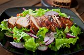 pic of  breasts  - Fresh vegetable salad with grilled chicken breast - JPG