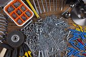 picture of triplets  - Still life with constructor tools - JPG