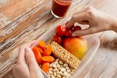 stock photo of containers  - healthy eating - JPG