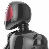 picture of cyborg  - Cyborg bot futuristic robot dummy black metallic concept - JPG