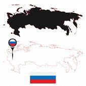 pic of political map  - Vector illustration - JPG
