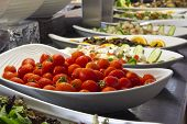 picture of buffet  - cherry tomatoes in a bowl on open buffet hotel - JPG