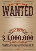 Wanted Vintage Western Poster poster
