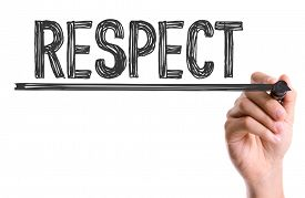 image of respect  - Hand with marker writing the word Respect - JPG
