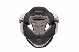 picture of neck brace  - Front view of Used white bike neck brace isolated on white background - JPG