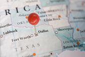 Dallas on a map