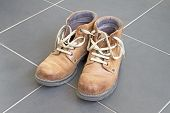 Comfortable pair of old brown boots
