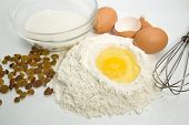 Eggs, Flour And Kitchen Tools