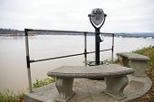Tourist Viewer By The Susquehanna River