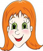 image of ruddy-faced  - Illustration of happy women with red hair - JPG