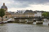 Pont Des Arts And L'institut De France.