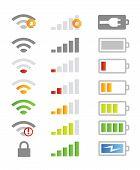 mobile phone device symbols vector