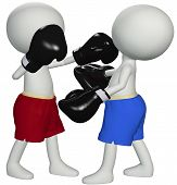 Boxers Punch Knockout In 3D Boxing Fight