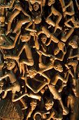 datails of african woodcarving