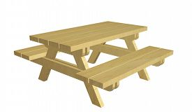 picture of nic  - Wooden picnic table - JPG
