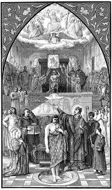picture of baptism  - The baptism of Clovis - JPG