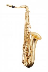 stock photo of wind instrument  - classical music wind instrument saxophone - JPG