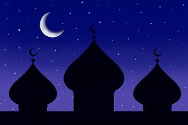 foto of ramazan mubarak  - Silhouette of a tree - JPG