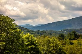 stock photo of mountain-ash  - Ashe County mountains North Carolina Seen From the Blue Ridge Parkway in summer - JPG