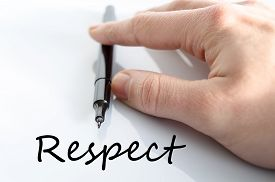 image of respect  - Respect text concept isolated over white background - JPG