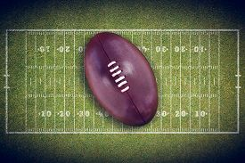 picture of football pitch  - american football against american football pitch - JPG
