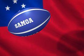 foto of samoa  - Samoa rugby ball against close - JPG