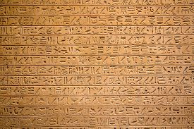 image of hieroglyphic  - Egyptian hieroglyphs on the wall - JPG