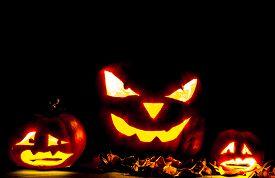 stock photo of jack o lanterns  - Halloween - JPG