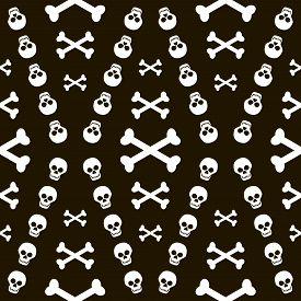 image of skull crossbones  - Seamless Halloween black and white pattern of skulls with crossbones - JPG