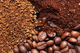 picture of coffee grounds  - Coffee ground coffee in granules coffee in a grain - JPG