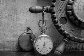foto of pass-time  - Old pocket watch - JPG