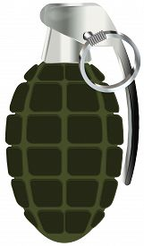 picture of grenades  - hand grenade vector illustration isolated on white background - JPG