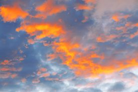 foto of ozone layer  - Sky and clouds at sunset - JPG