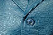 Genuine Blue Leather Jacket